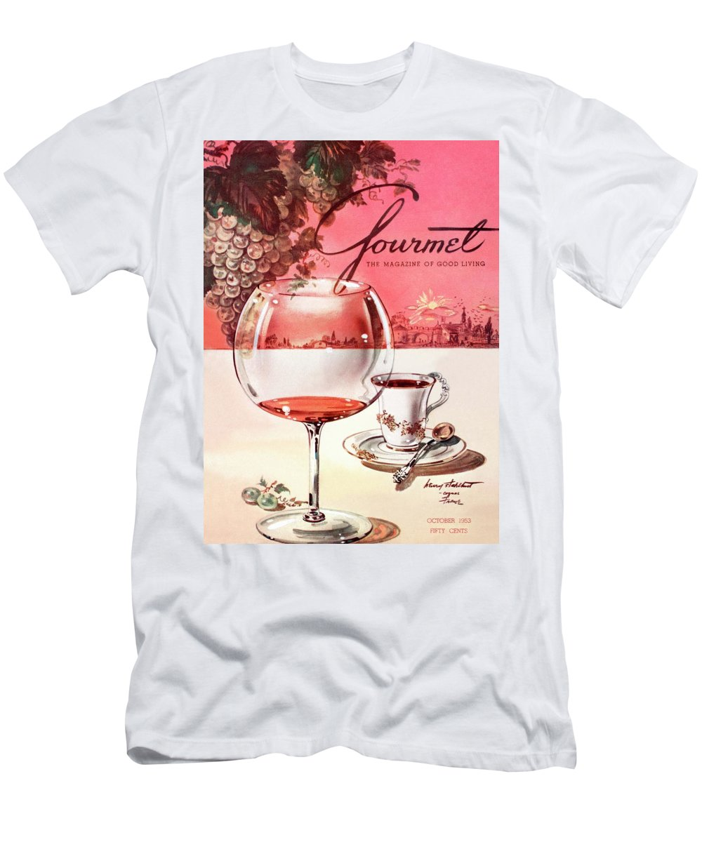 Travel T-Shirt featuring the photograph Gourmet Cover Illustration Of A Baccarat Balloon by Henry Stahlhut