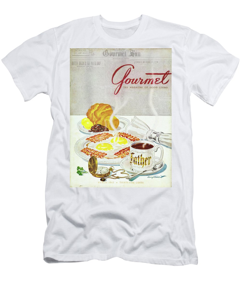 Food T-Shirt featuring the photograph Gourmet Cover Of Breakfast by Henry Stahlhut