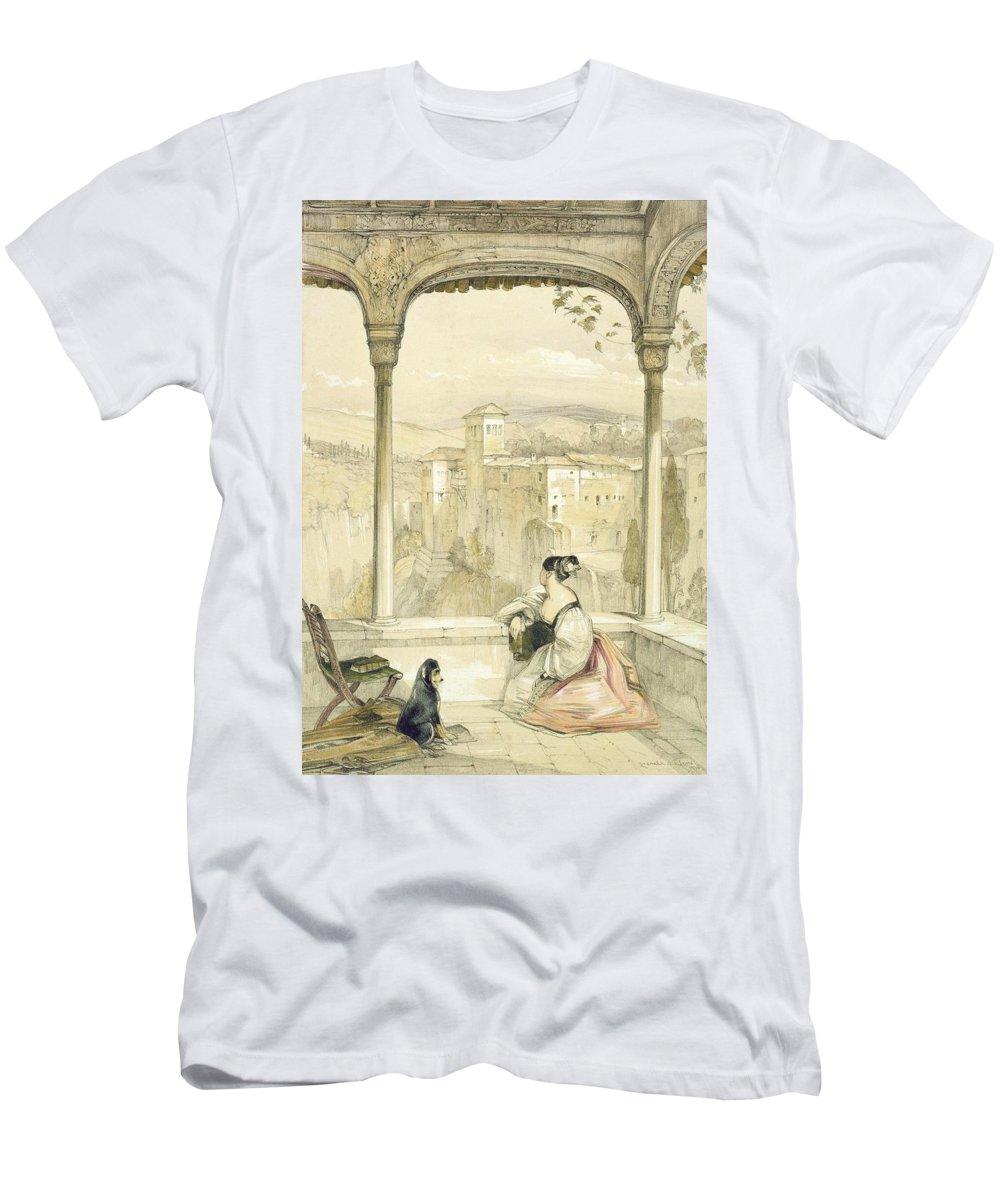 Arch Men's T-Shirt (Athletic Fit) featuring the drawing Granada , Plate 9 From Sketches by John Frederick Lewis