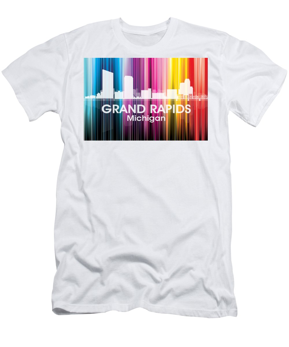 Grand Rapids Men's T-Shirt (Athletic Fit) featuring the mixed media Grand Rapids Mi 2 by Angelina Vick