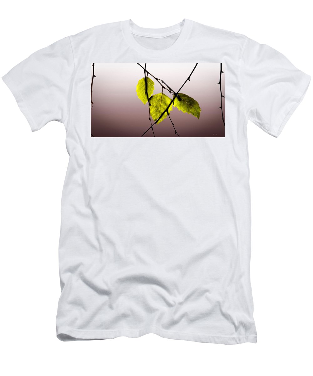 Green Leaves Men's T-Shirt (Athletic Fit) featuring the photograph Green Leaves by Bob Orsillo