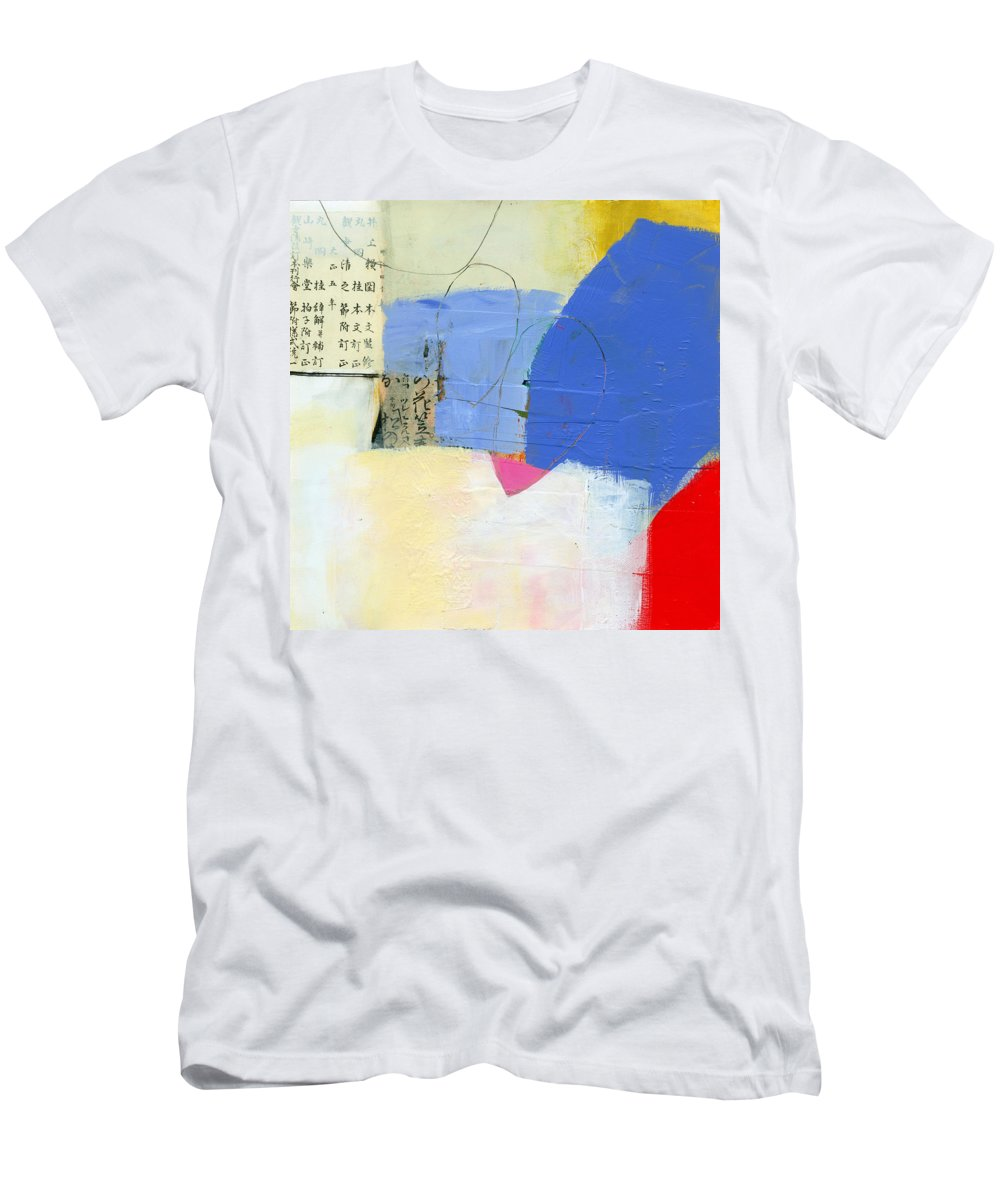Jane Davies Men's T-Shirt (Athletic Fit) featuring the painting Grid 7 by Jane Davies