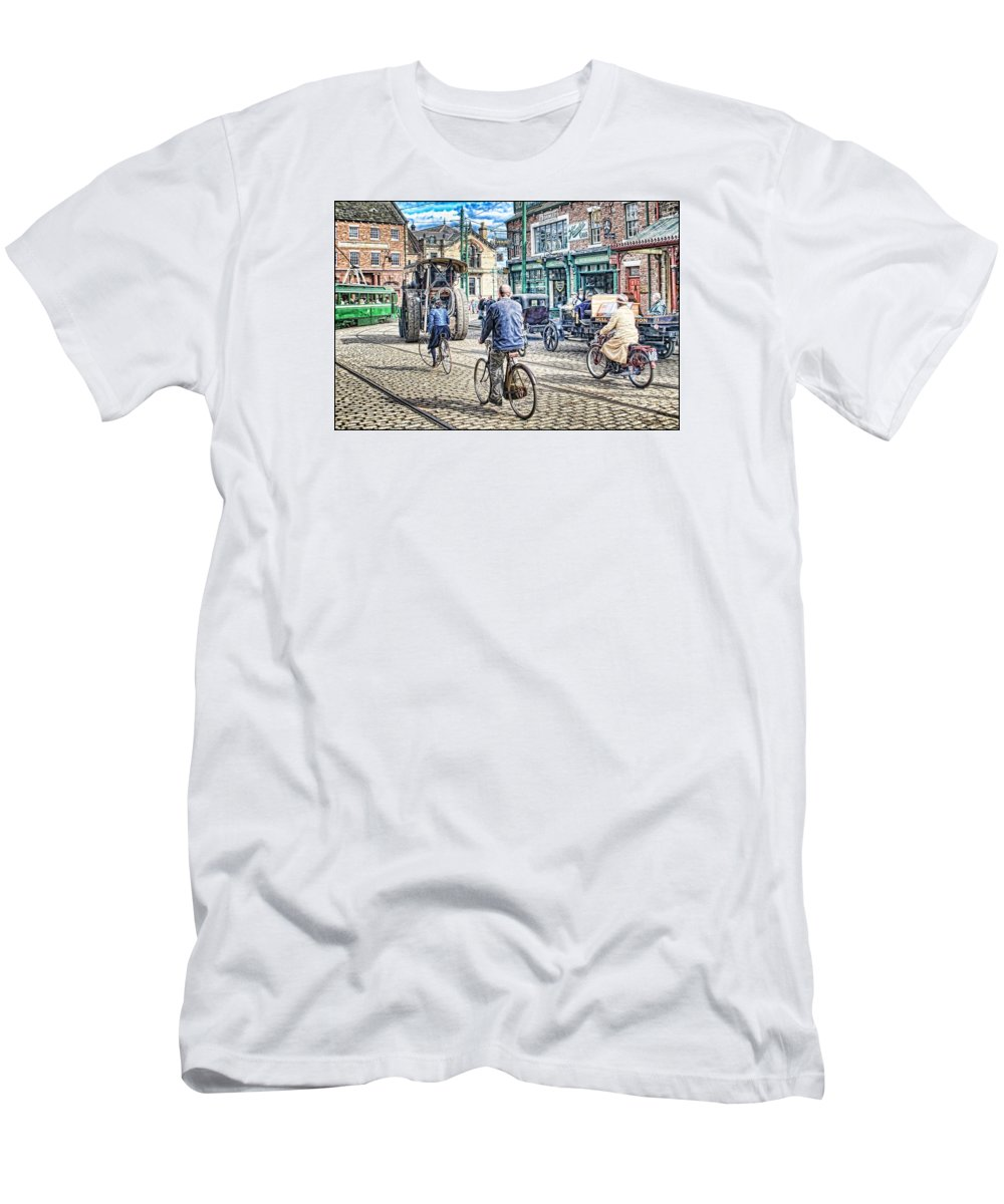 Beamish Men's T-Shirt (Athletic Fit) featuring the digital art Halcyon Days 2 by John Lynch