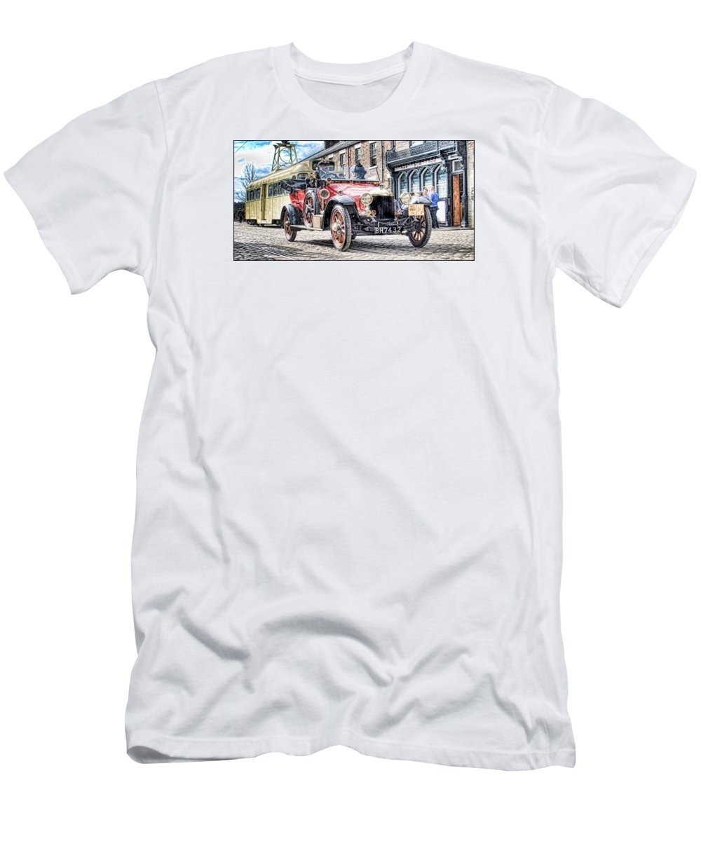 Beamish Men's T-Shirt (Athletic Fit) featuring the digital art Halcyon Days 5 by John Lynch