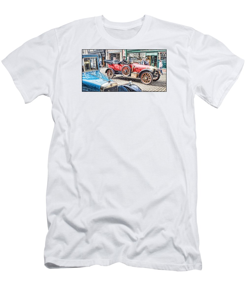 Beamish Men's T-Shirt (Athletic Fit) featuring the digital art Halcyon Days 8 by John Lynch