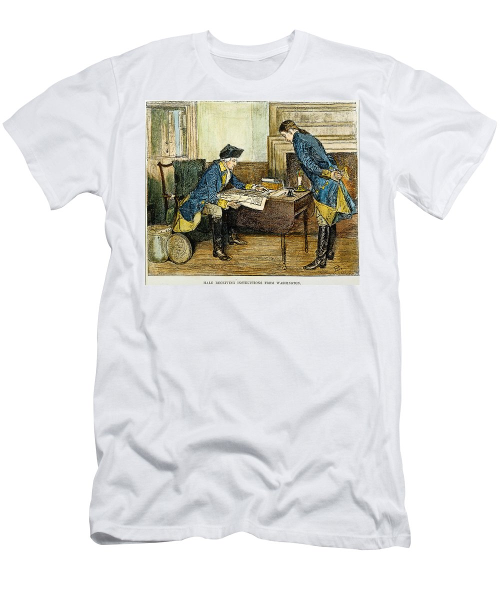 1776 Men's T-Shirt (Athletic Fit) featuring the photograph Hale & Washington In Nyc by Granger