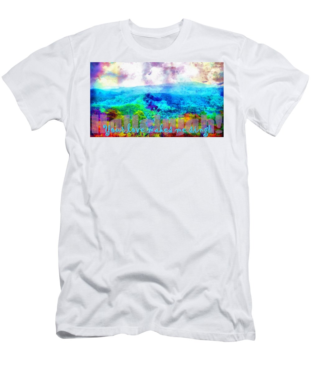 Jesus Men's T-Shirt (Athletic Fit) featuring the digital art Hallelujah by Michelle Greene Wheeler