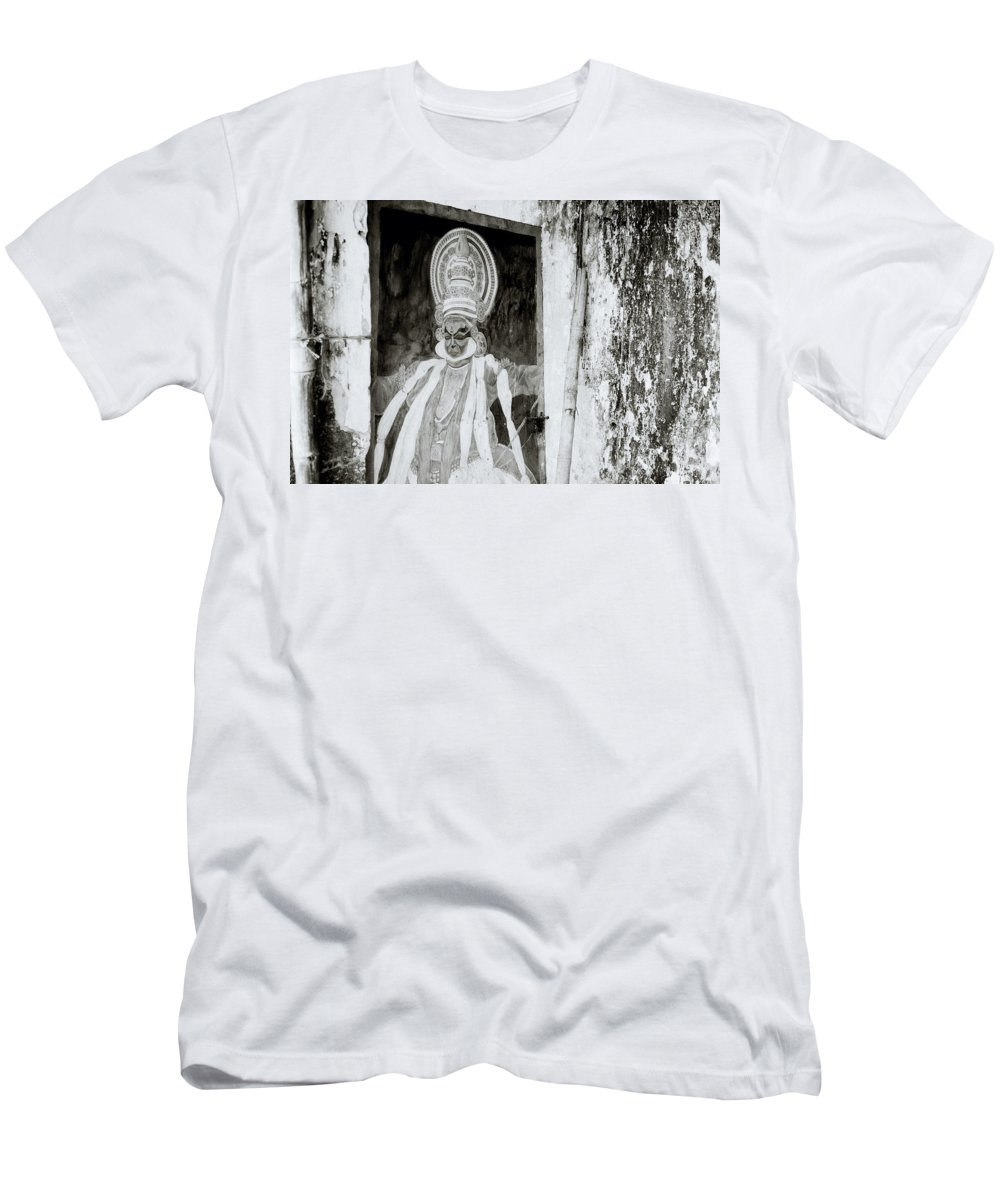 India Men's T-Shirt (Athletic Fit) featuring the photograph Hanuman by Shaun Higson
