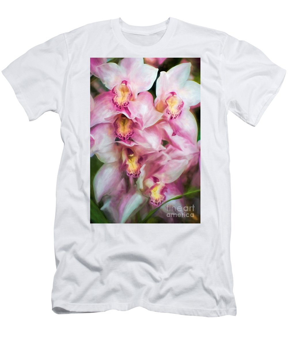 Pink Men's T-Shirt (Athletic Fit) featuring the photograph Happy Together by Peggy Hughes