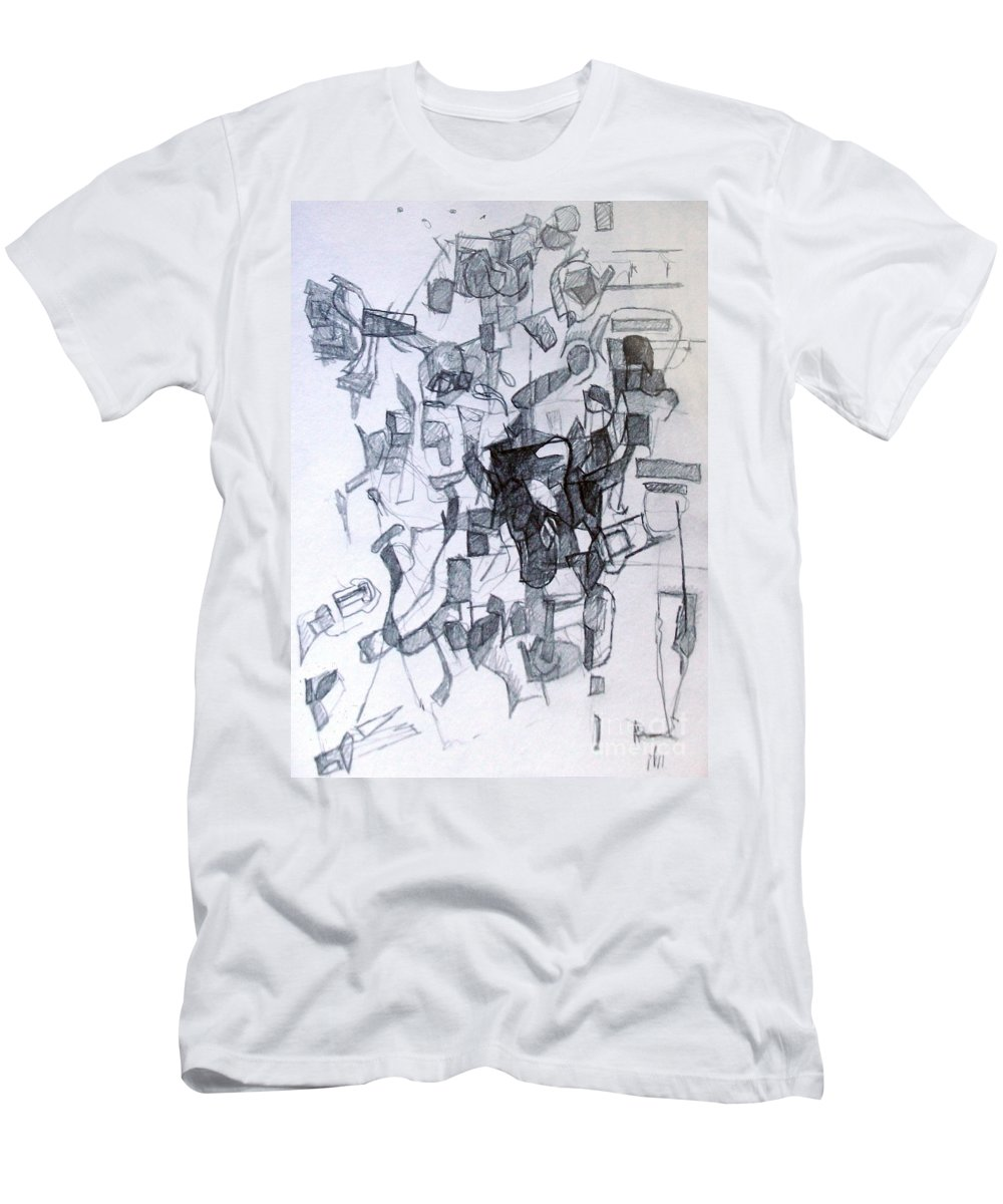 Torah Men's T-Shirt (Athletic Fit) featuring the drawing Harmony Despite Differences 2 by David Baruch Wolk