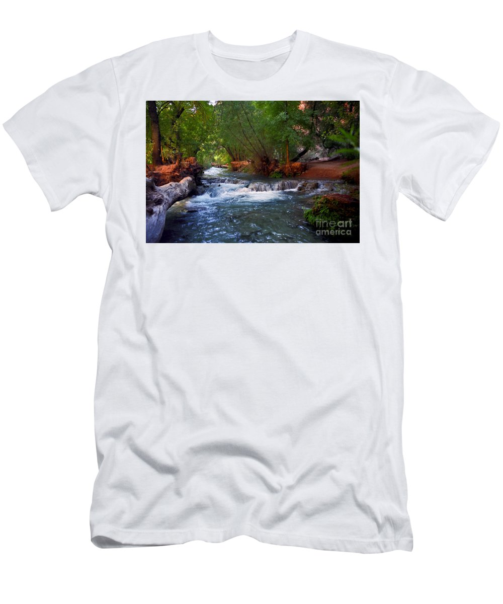 Arizona Men's T-Shirt (Athletic Fit) featuring the photograph Havasu Creek by Kathy McClure