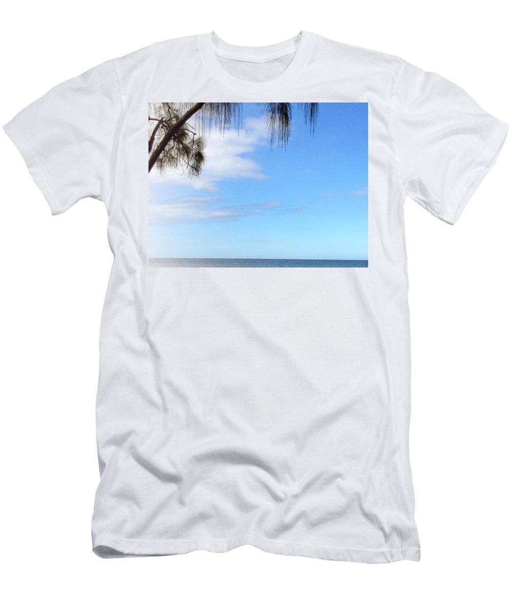 Hawaiiana Men's T-Shirt (Athletic Fit) featuring the digital art Hawaiian Landscape 11 by D Preble