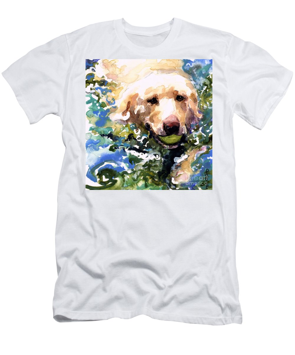Water Retrieve T-Shirt featuring the painting Head Above Water by Molly Poole