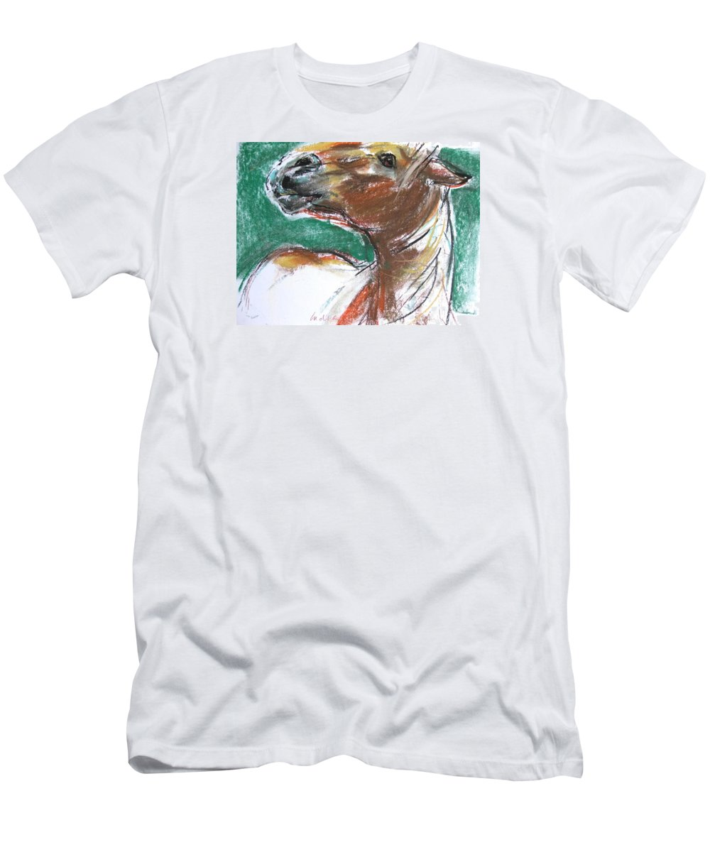 Horse Men's T-Shirt (Athletic Fit) featuring the drawing Heads Up by Indra Singh