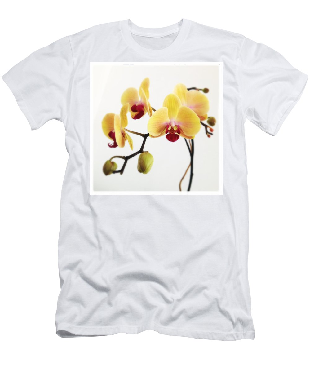 Orchid Men's T-Shirt (Athletic Fit) featuring the photograph Hello Look At Me by Dorian Hill