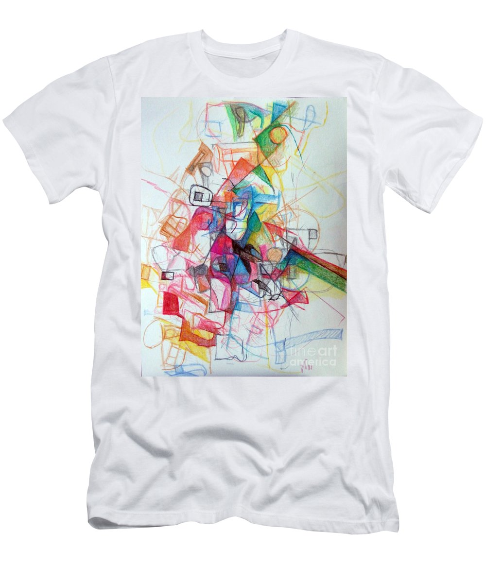 Torah Men's T-Shirt (Athletic Fit) featuring the drawing Hidden In The Earth 1 by David Baruch Wolk