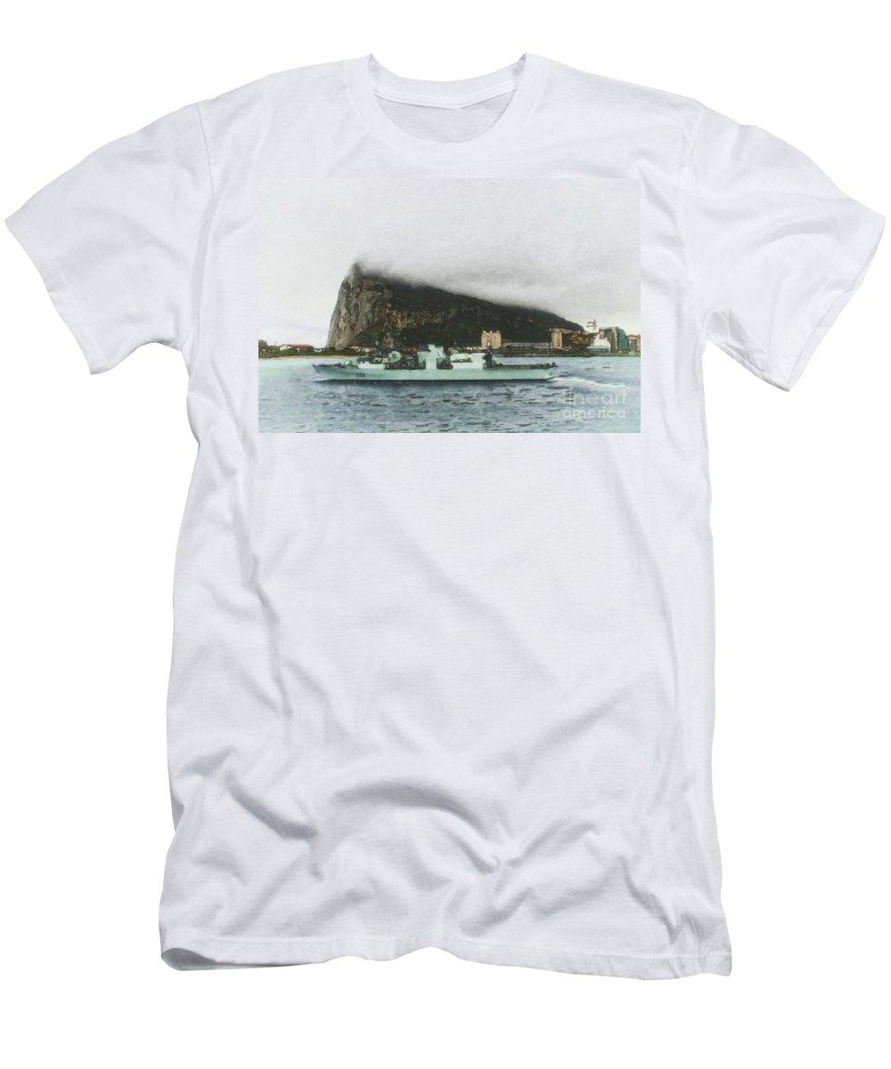 Veterans Men's T-Shirt (Athletic Fit) featuring the digital art Hmcs Toronto Underway By Shawna Mac by Shawna Mac