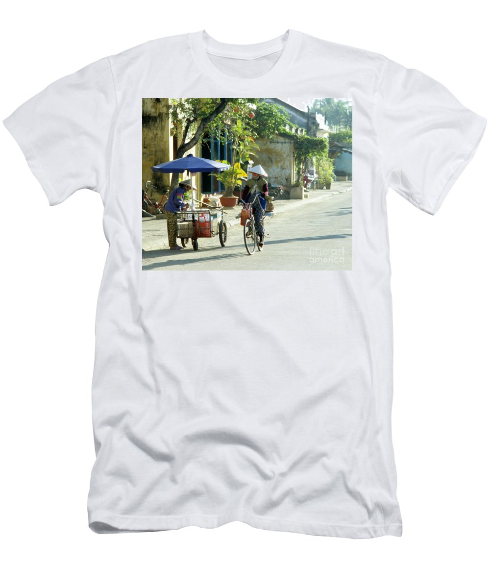 Vietnam Men's T-Shirt (Athletic Fit) featuring the photograph Hoi An Early Morning by Rick Piper Photography