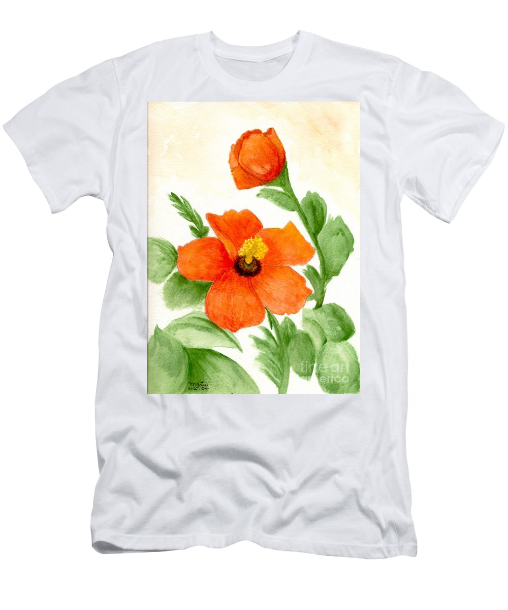 Flower Men's T-Shirt (Athletic Fit) featuring the painting Hope by Flamingo Graphix John Ellis