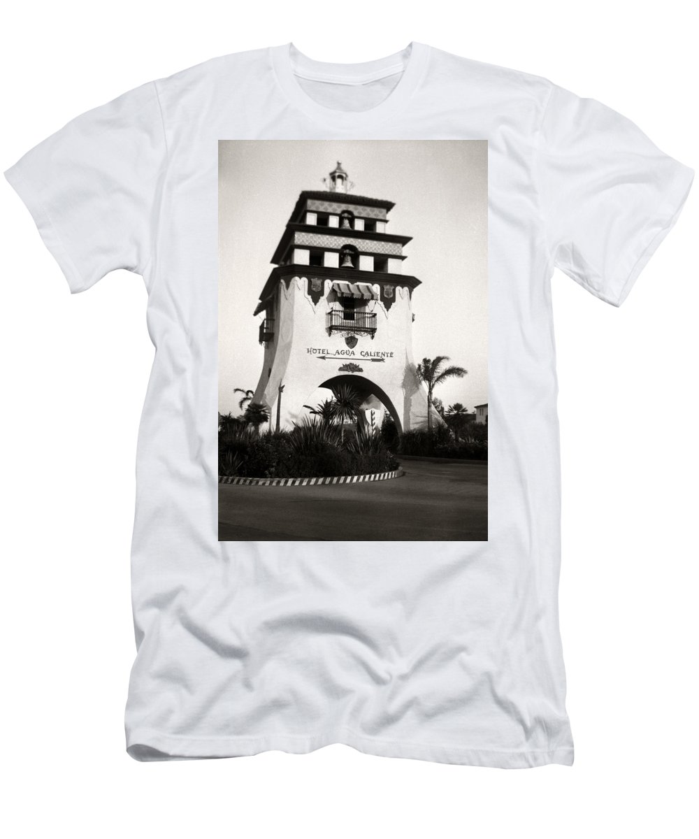 Hotel Men's T-Shirt (Athletic Fit) featuring the photograph Hotel Agua Caliente Mexico by Marilyn Hunt