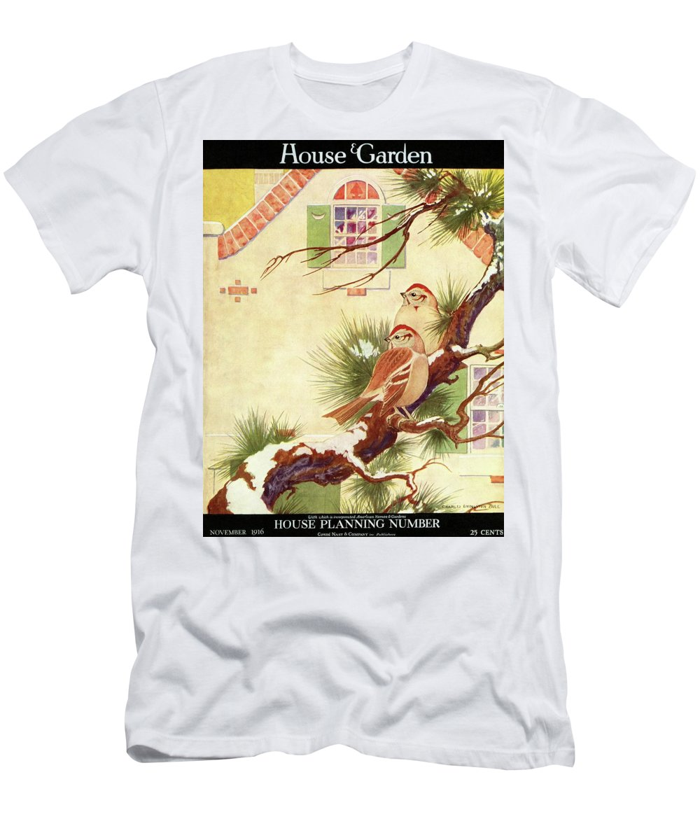 Illustration T-Shirt featuring the photograph House And Garden Cover by Charles Livingston Bull