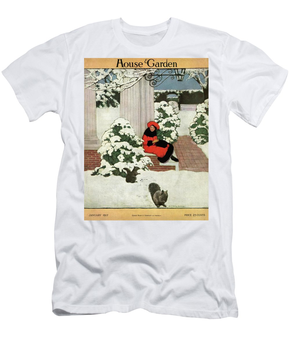 House And Garden T-Shirt featuring the photograph House And Garden Cover by Ethel Franklin Betts Baines