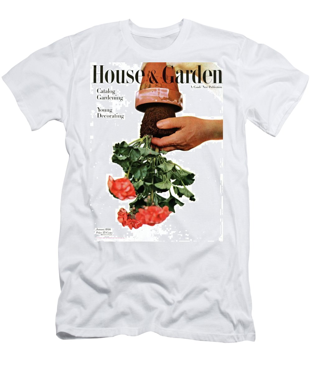 House And Garden Men's T-Shirt (Athletic Fit) featuring the photograph House And Garden Cover Featuring A Person by Haanel Cassidy