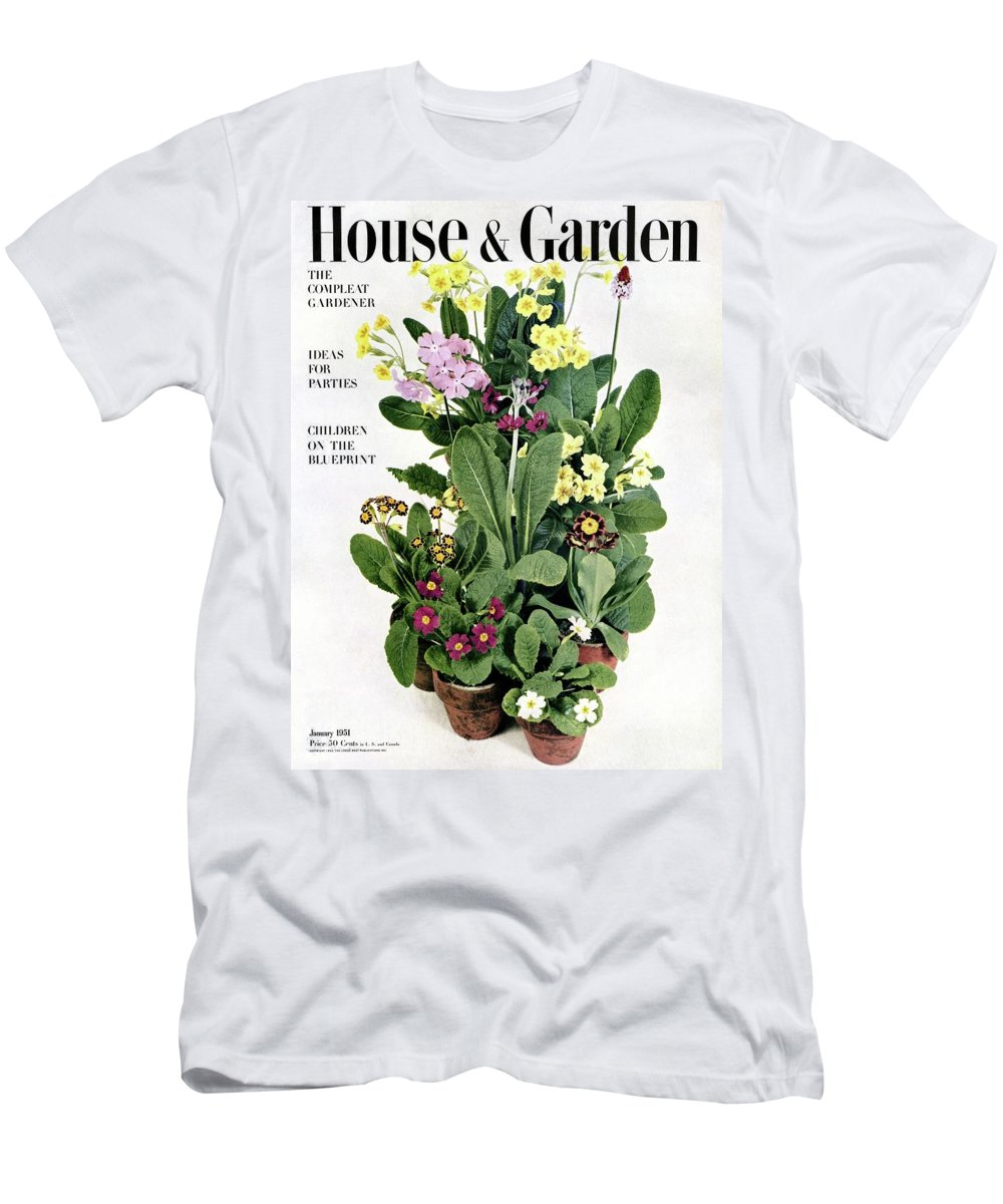 House And Garden Men's T-Shirt (Athletic Fit) featuring the photograph House And Garden Cover by Wiliam Grigsby
