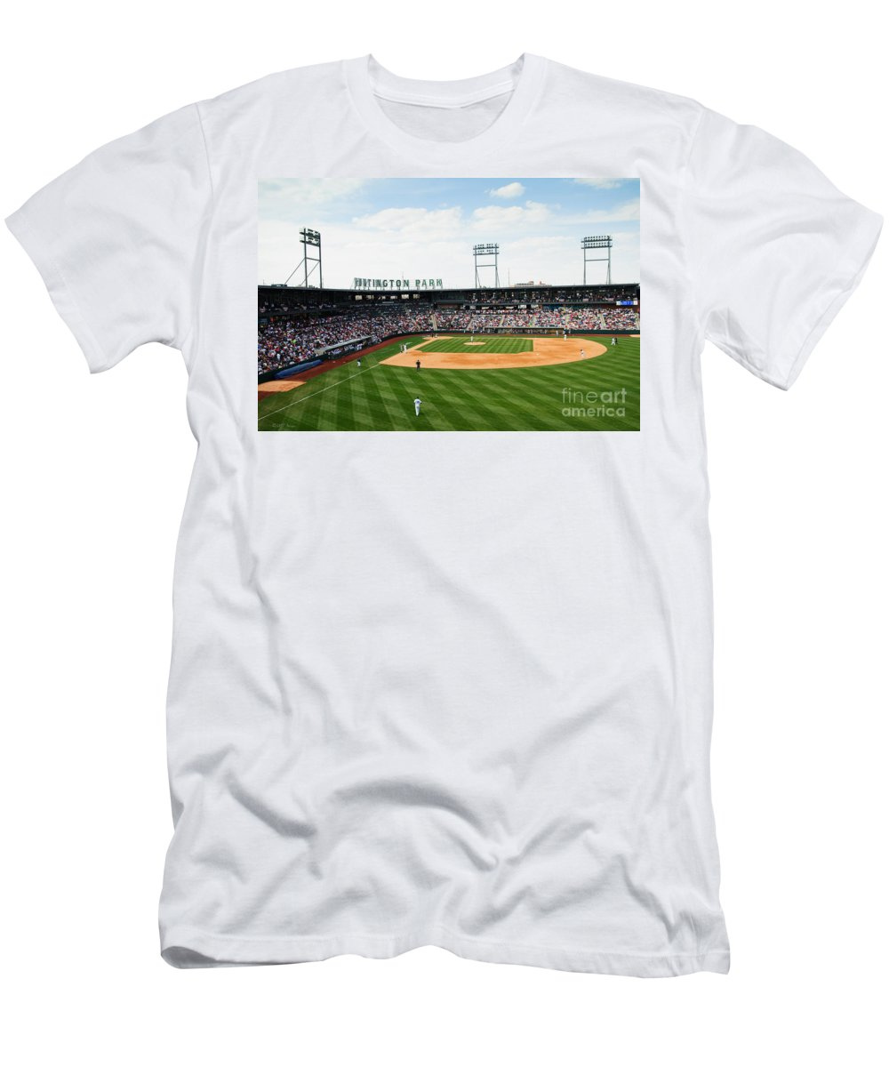 Columbus Clippers Men's T-Shirt (Athletic Fit) featuring the photograph D24w-243 Huntington Park Photo by Ohio Stock Photography