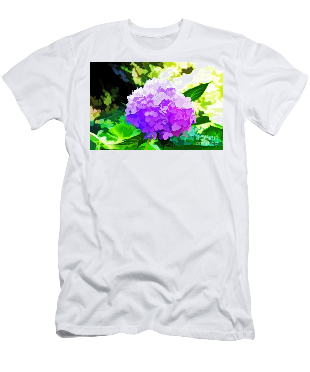 Quincy Illinois Men's T-Shirt (Athletic Fit) featuring the photograph Hydrangea In Watercolor by Luther Fine Art