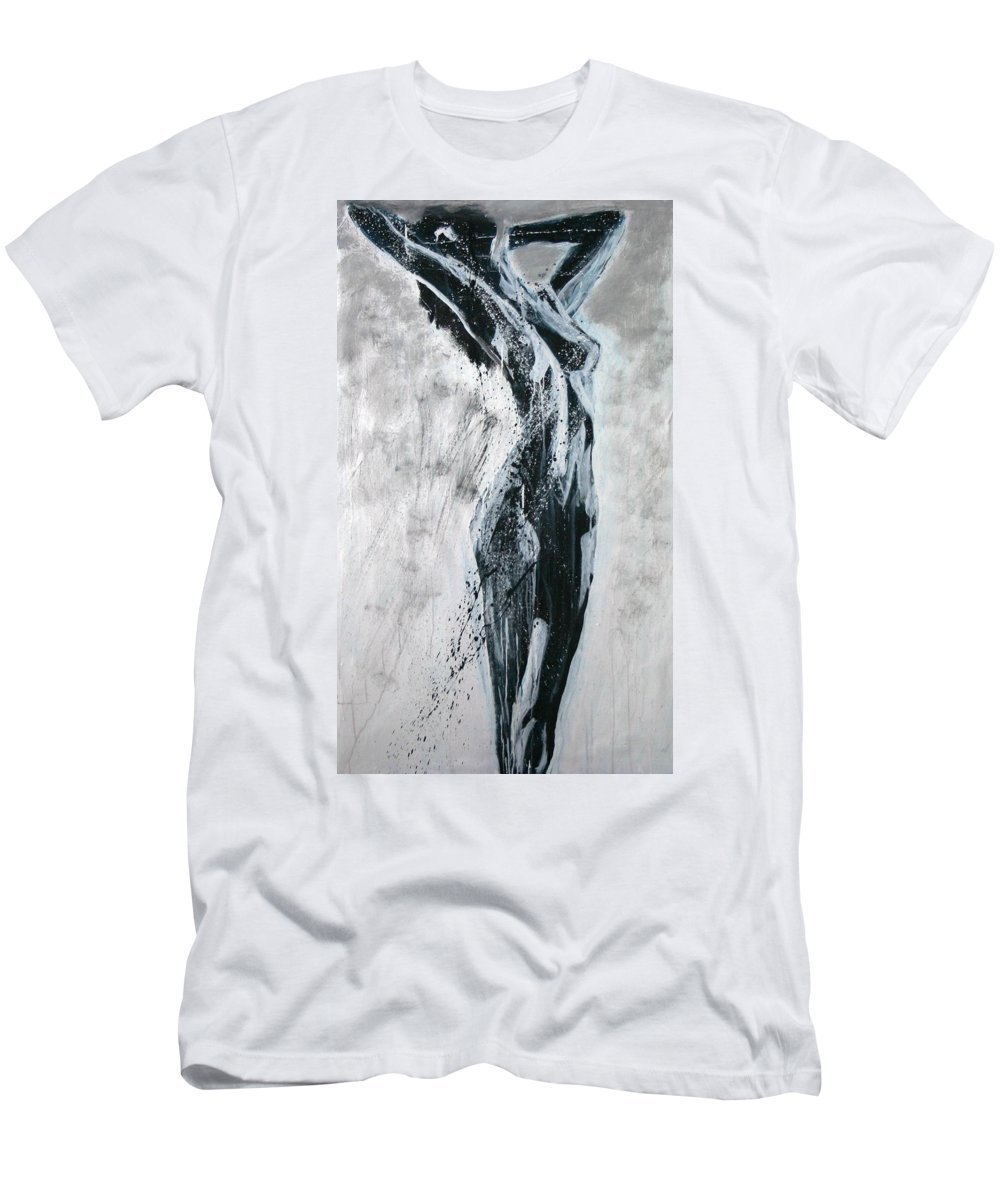 Beautiful Men's T-Shirt (Athletic Fit) featuring the painting I Am Alive by Jarmo Korhonen aka Jarko