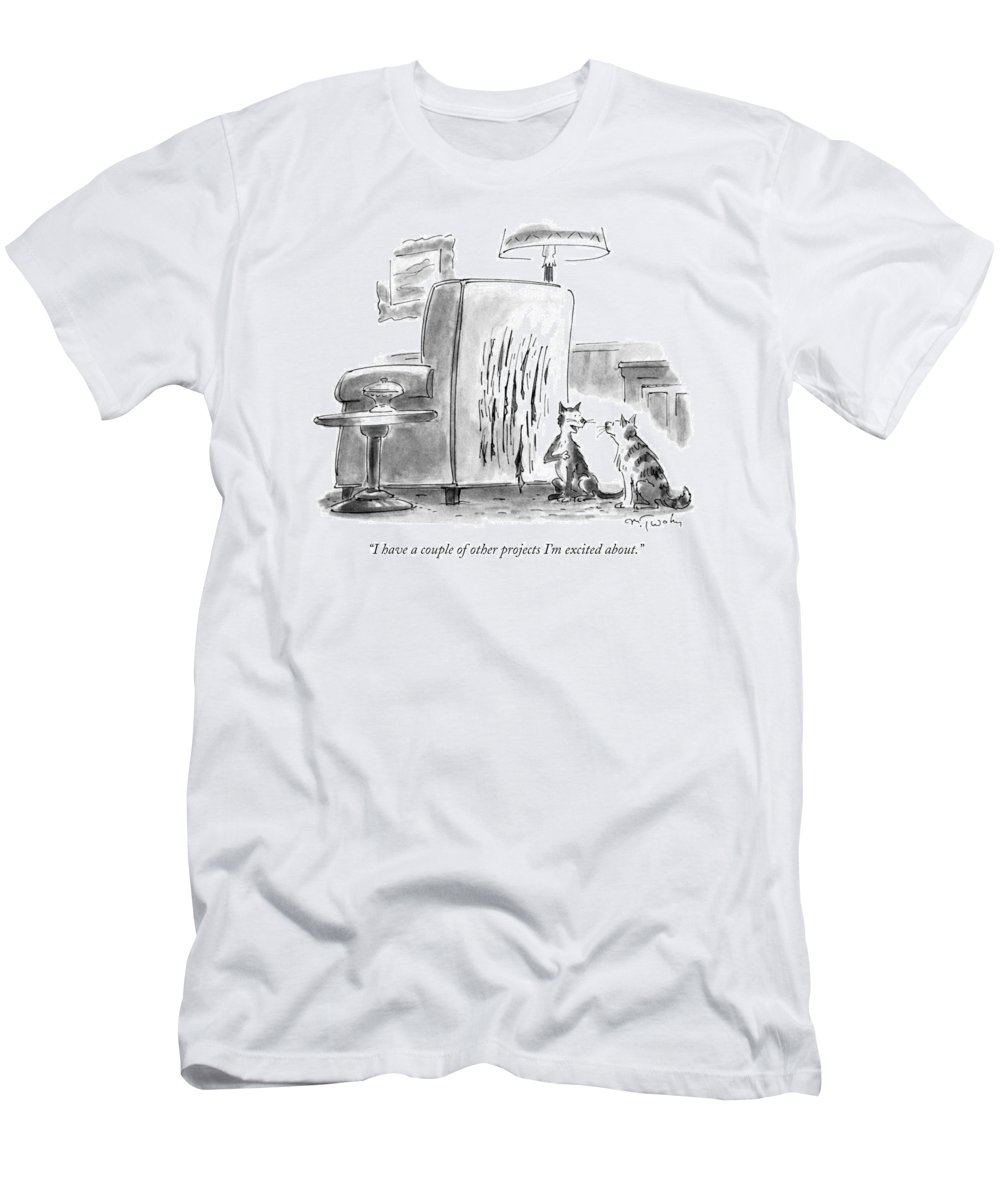 Artists T-Shirt featuring the drawing I Have A Couple Of Other Projects I'm Excited by Mike Twohy
