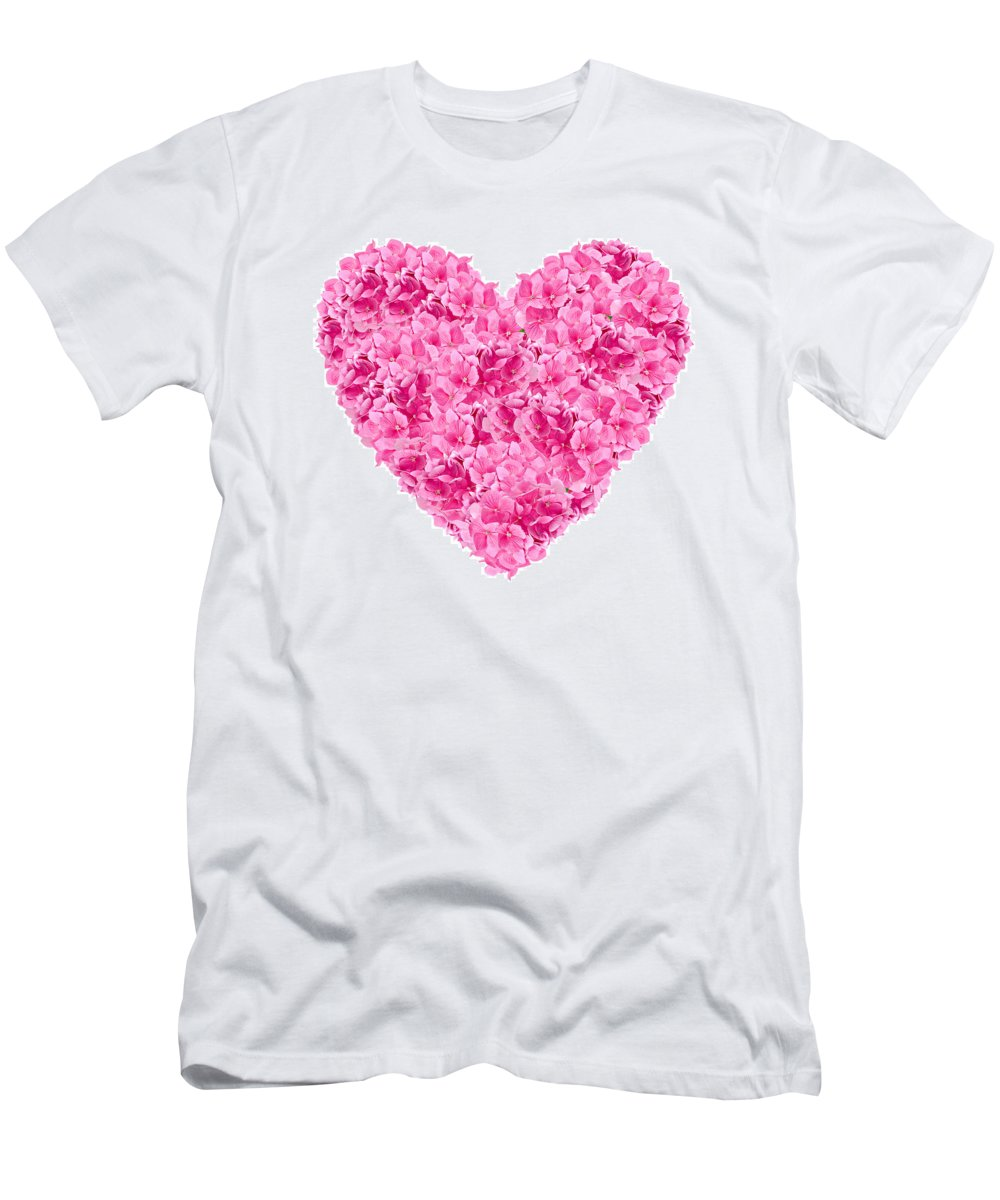 Heart Men's T-Shirt (Athletic Fit) featuring the photograph I Heart You by Meirion Matthias