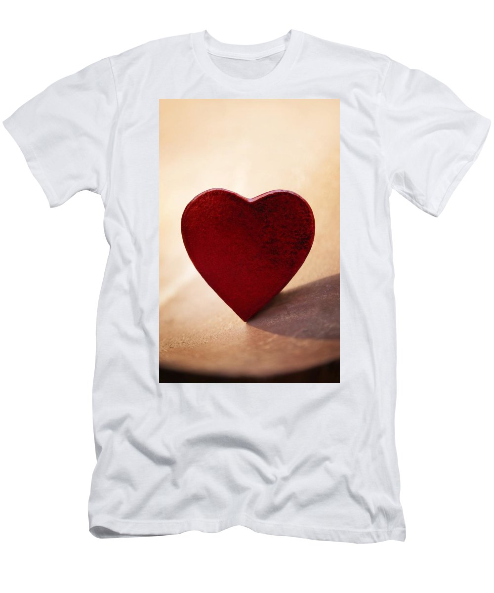 Amour Men's T-Shirt (Athletic Fit) featuring the photograph I Love You by Con Tanasiuk