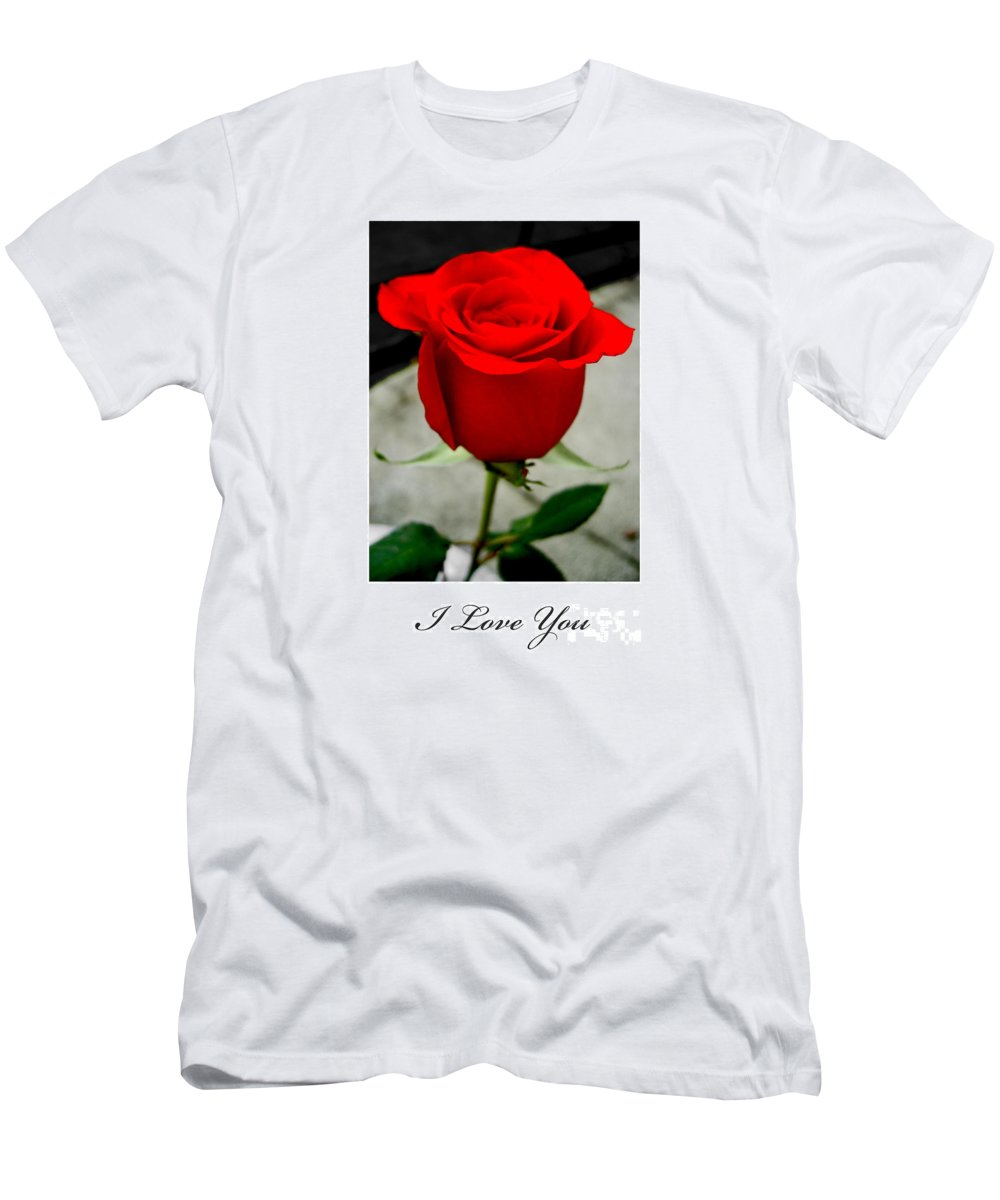 I Love You Men's T-Shirt (Athletic Fit) featuring the photograph I Love You by Nina Ficur Feenan