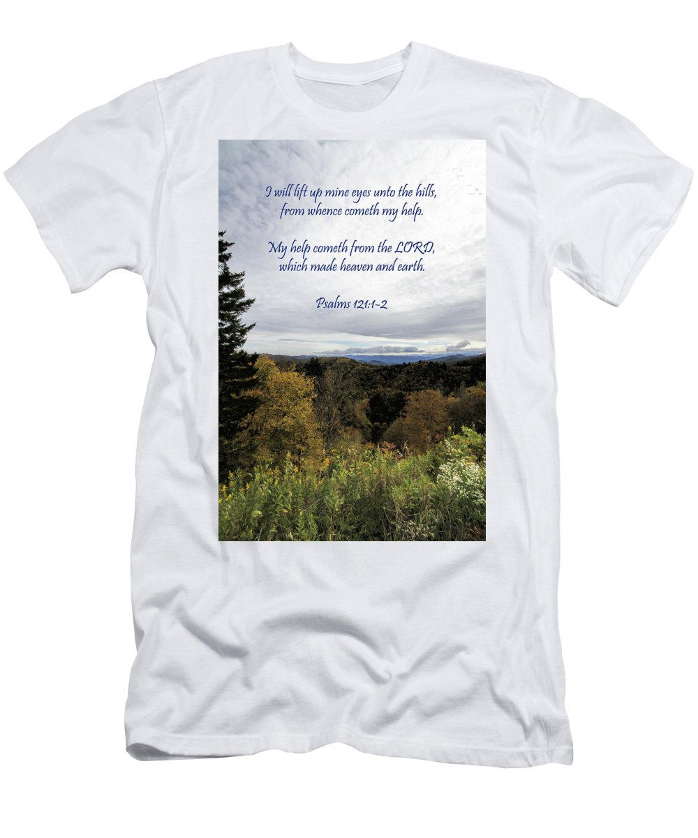 Appalachian Men's T-Shirt (Athletic Fit) featuring the photograph I Will Lift Up My Eyes by Kathy Clark