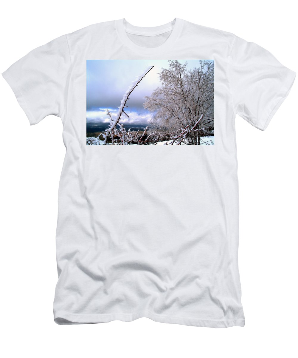 National Park Men's T-Shirt (Athletic Fit) featuring the photograph Ice by Guido Montanes Castillo