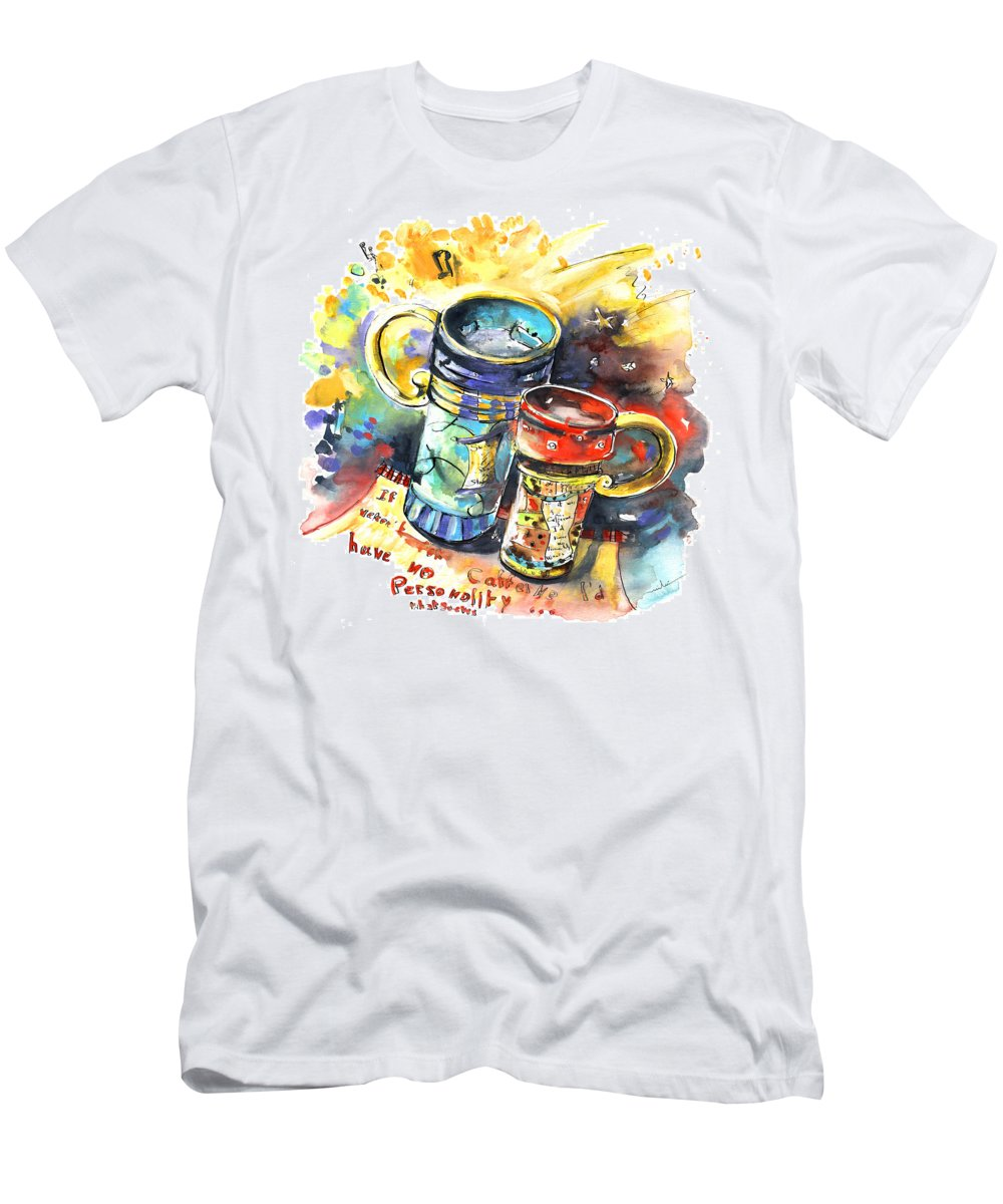 Cafe Crem Men's T-Shirt (Athletic Fit) featuring the painting If It Were Not For Caffeine by Miki De Goodaboom