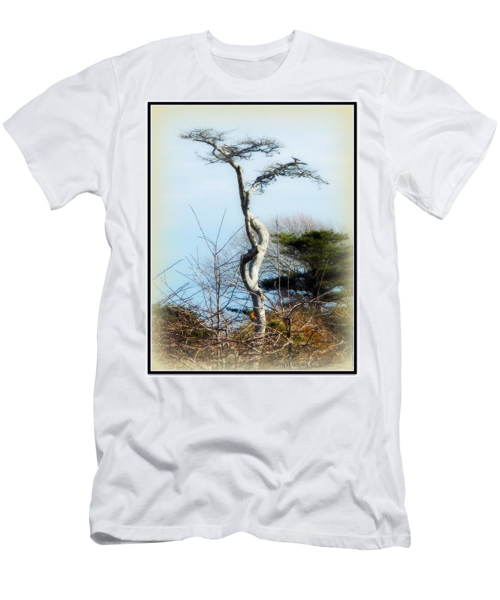 Field Men's T-Shirt (Athletic Fit) featuring the photograph I'm Not Alone by Kathy Barney