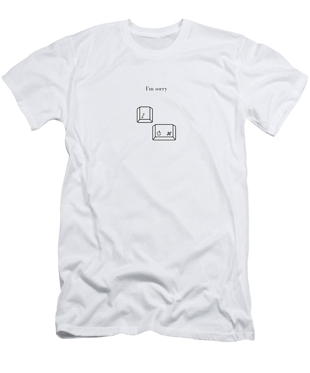 I'm Sorry Men's T-Shirt (Athletic Fit) featuring the digital art I'm Sorry - Mac by Nathan Shegrud