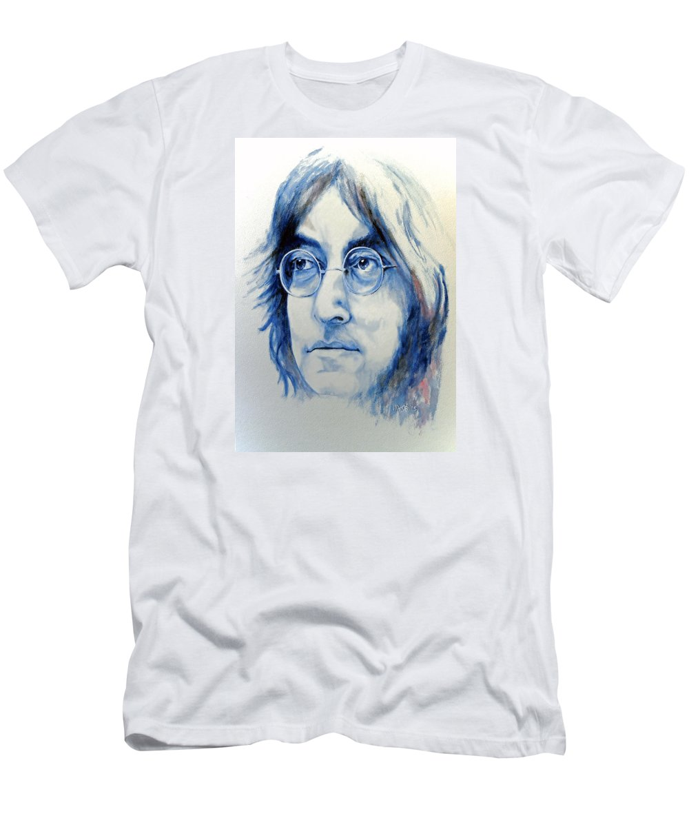 Lennon Men's T-Shirt (Athletic Fit) featuring the painting Imagine by William Walts