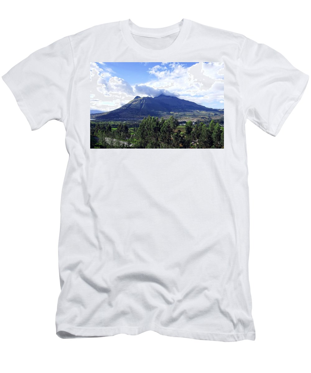 Volcano Men's T-Shirt (Athletic Fit) featuring the photograph Imbabura by Kurt Van Wagner