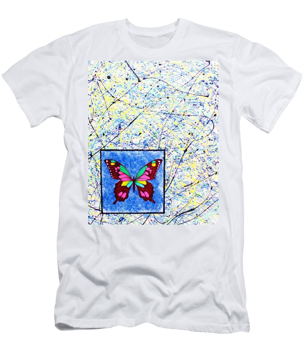 Abstract Men's T-Shirt (Athletic Fit) featuring the painting Imperfect I by Micah Guenther