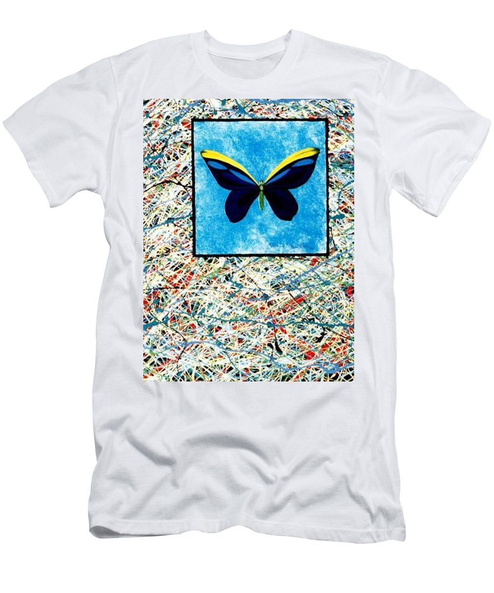 Abstract T-Shirt featuring the painting Imperfect II by Micah Guenther
