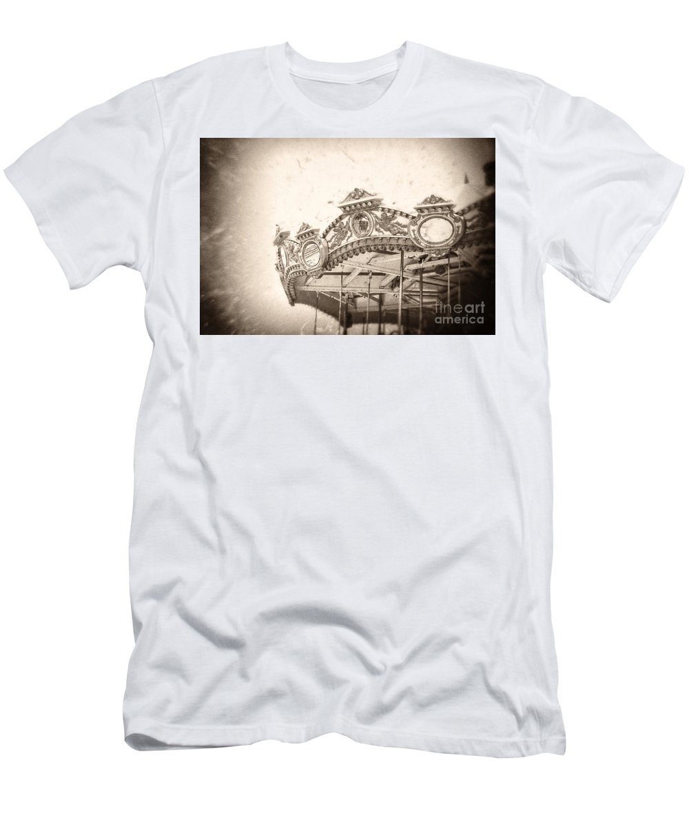 Boardwalk Men's T-Shirt (Athletic Fit) featuring the photograph Impossible Dream by Trish Mistric