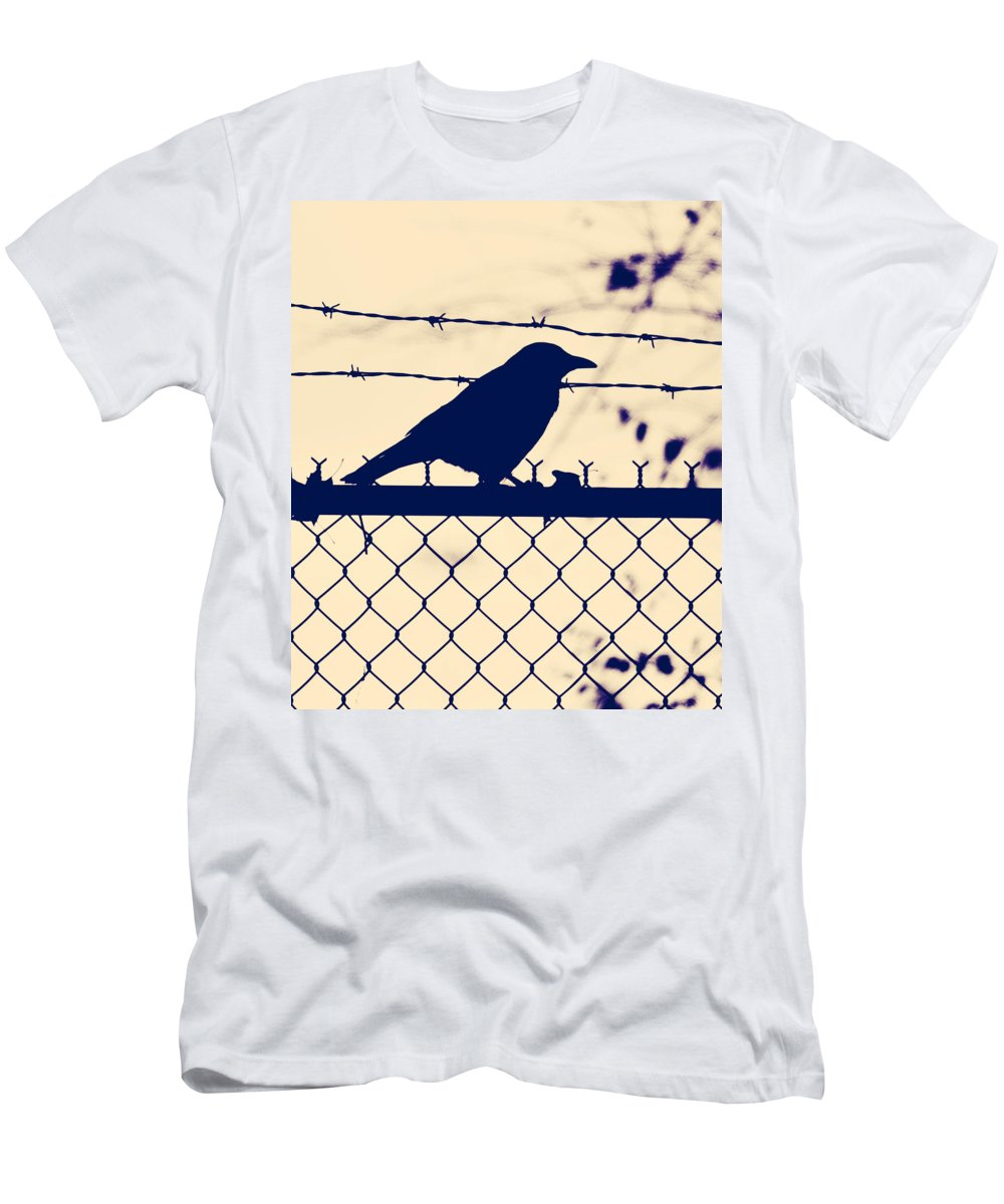 Bird Men's T-Shirt (Athletic Fit) featuring the photograph In Search For Worm by The Artist Project