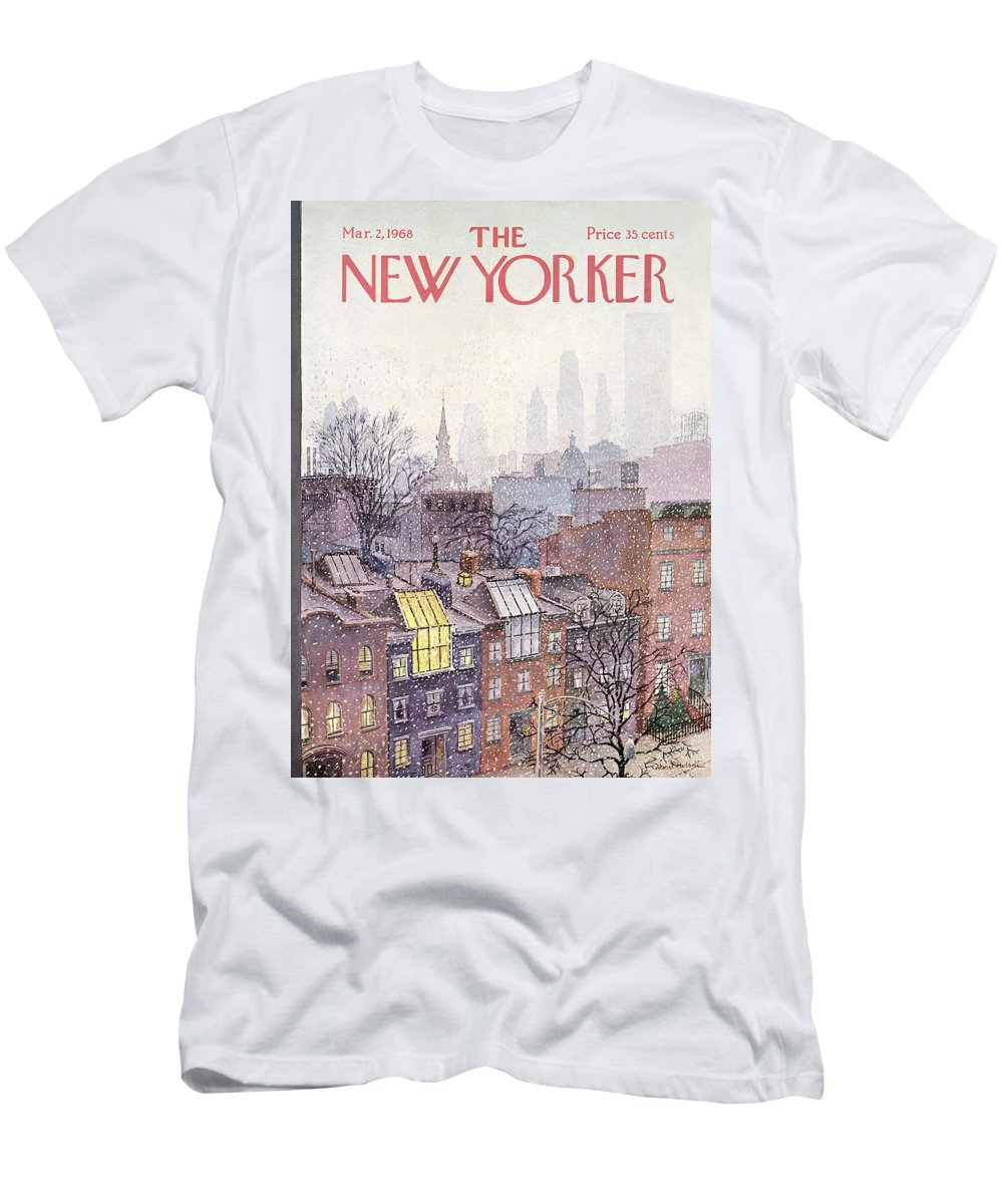 Albert Hubbell Ahu T-Shirt featuring the painting New Yorker March 2, 1968 by Albert Hubbell