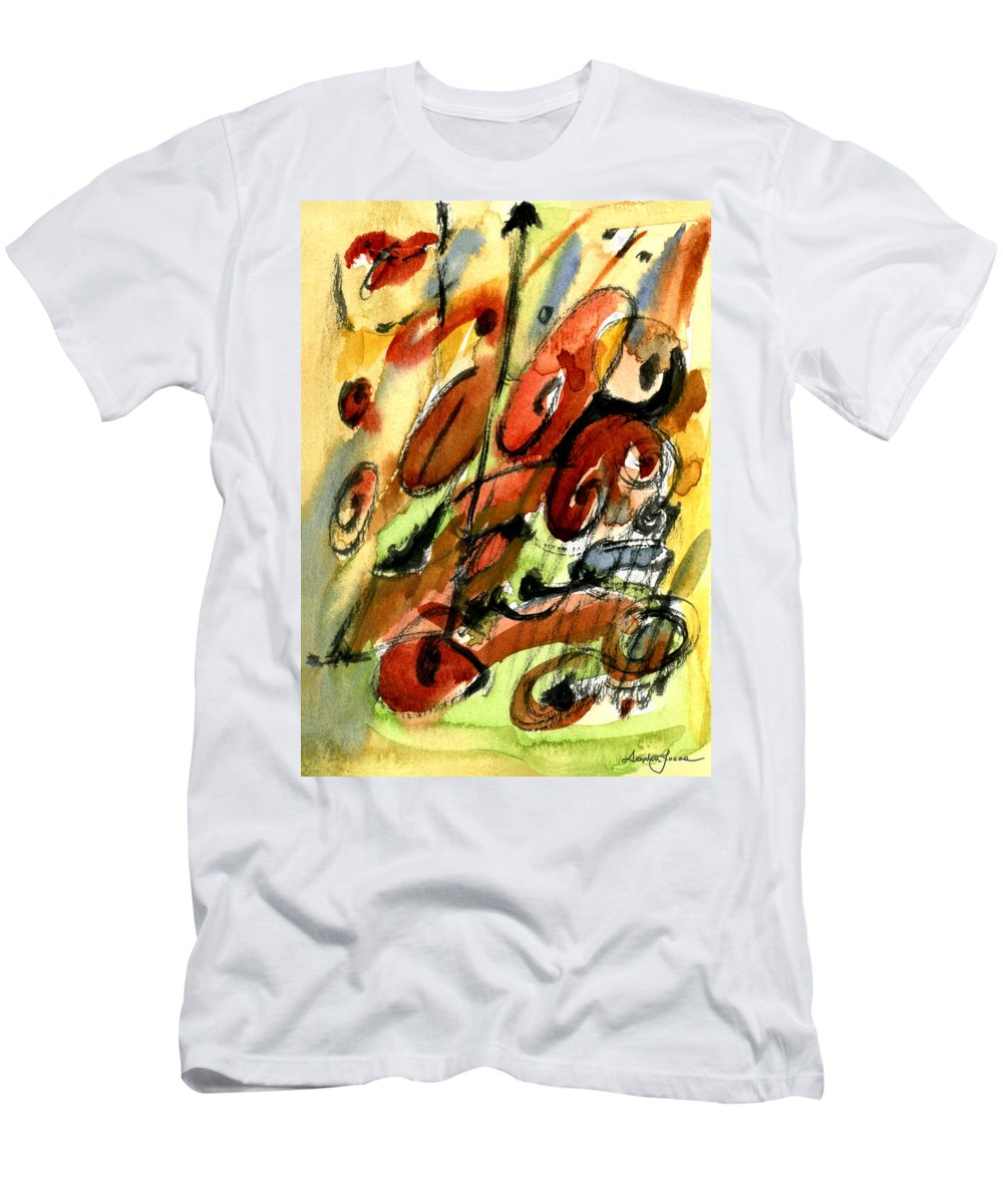 Abstract Art Men's T-Shirt (Athletic Fit) featuring the painting Indian Summer by Stephen Lucas