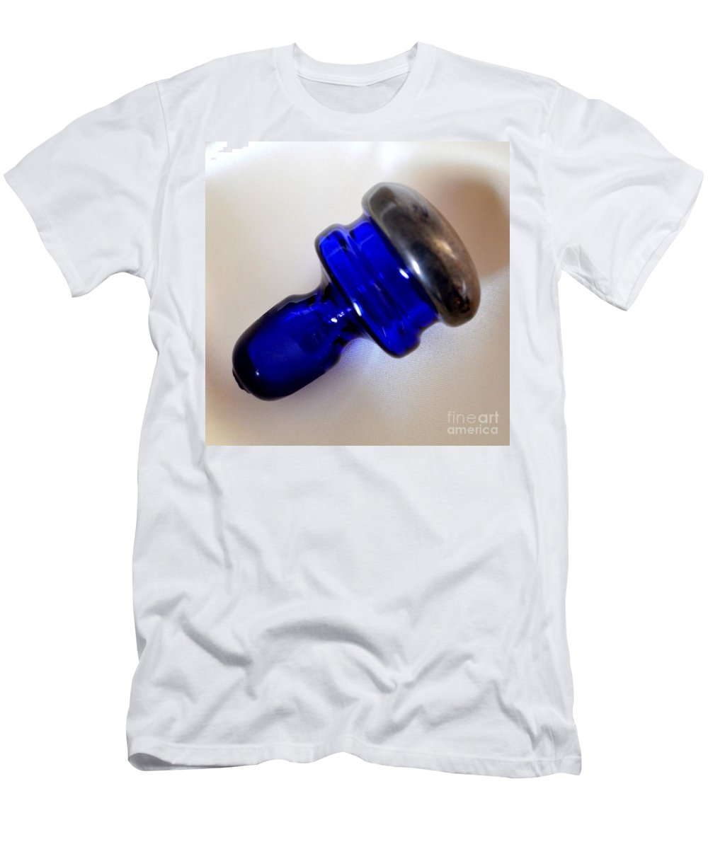 Blue Men's T-Shirt (Athletic Fit) featuring the photograph Indigo Bottle Stopper by Mary Deal