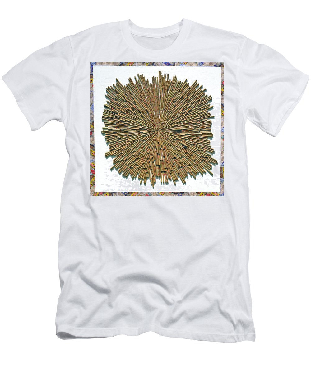 Cigarette Men's T-Shirt (Athletic Fit) featuring the mixed media Inhale Exhale by Sumit Mehndiratta